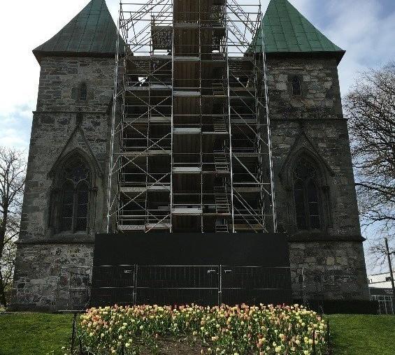 Stavanger Domkirke restaureres med Alustar Stillas